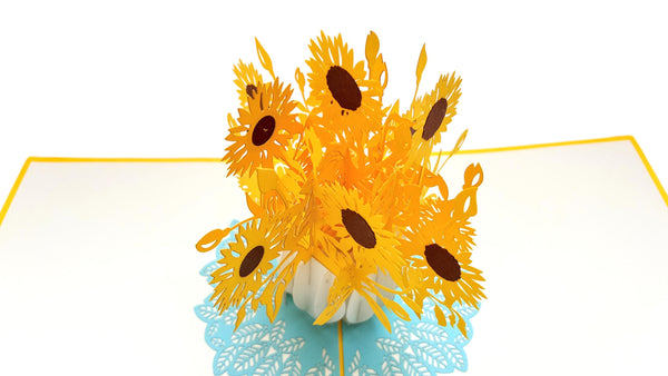Sunflowers 3D Pop Up Greeting Card 2