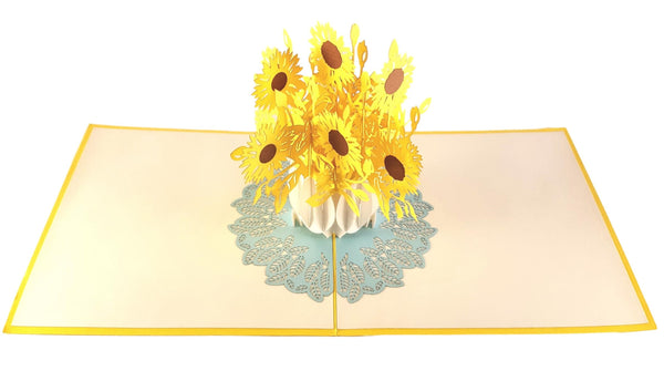 Sunflowers 3D Pop Up Greeting Card 3