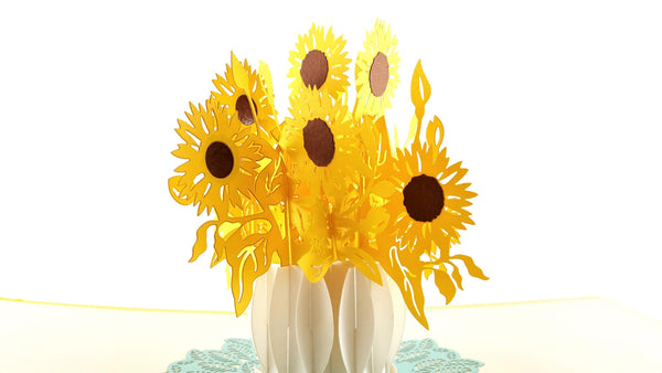 Sunflowers 3D Pop Up Greeting Card 4