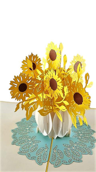 Sunflowers 3D Pop Up Greeting Card 5