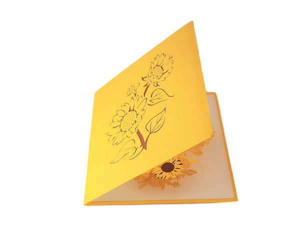 Sunflowers 3D Pop Up Greeting Card 6