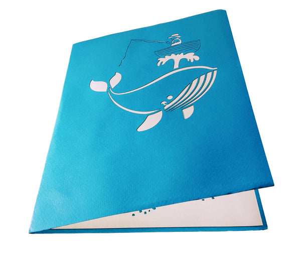 The Man And The Whale 3D Pop Up Greeting Card 4