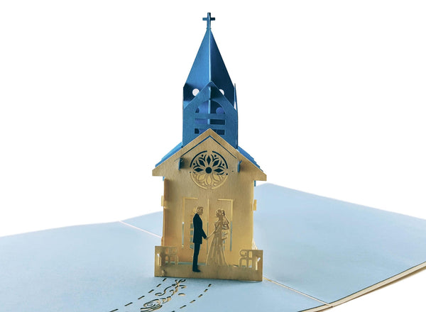 Wedding Chapel 3D Pop Up Greeting Card 2