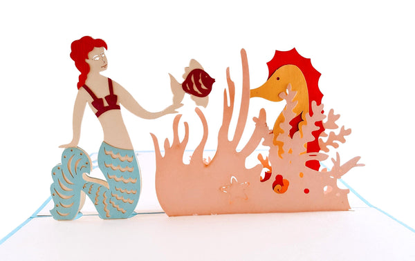 Mermaid 3D Pop Up Greeting Card 2