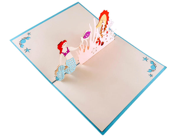 Mermaid 3D Pop Up Greeting Card 3