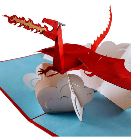 Fire Breathing Dragon 3D Pop Up Greeting Card 1
