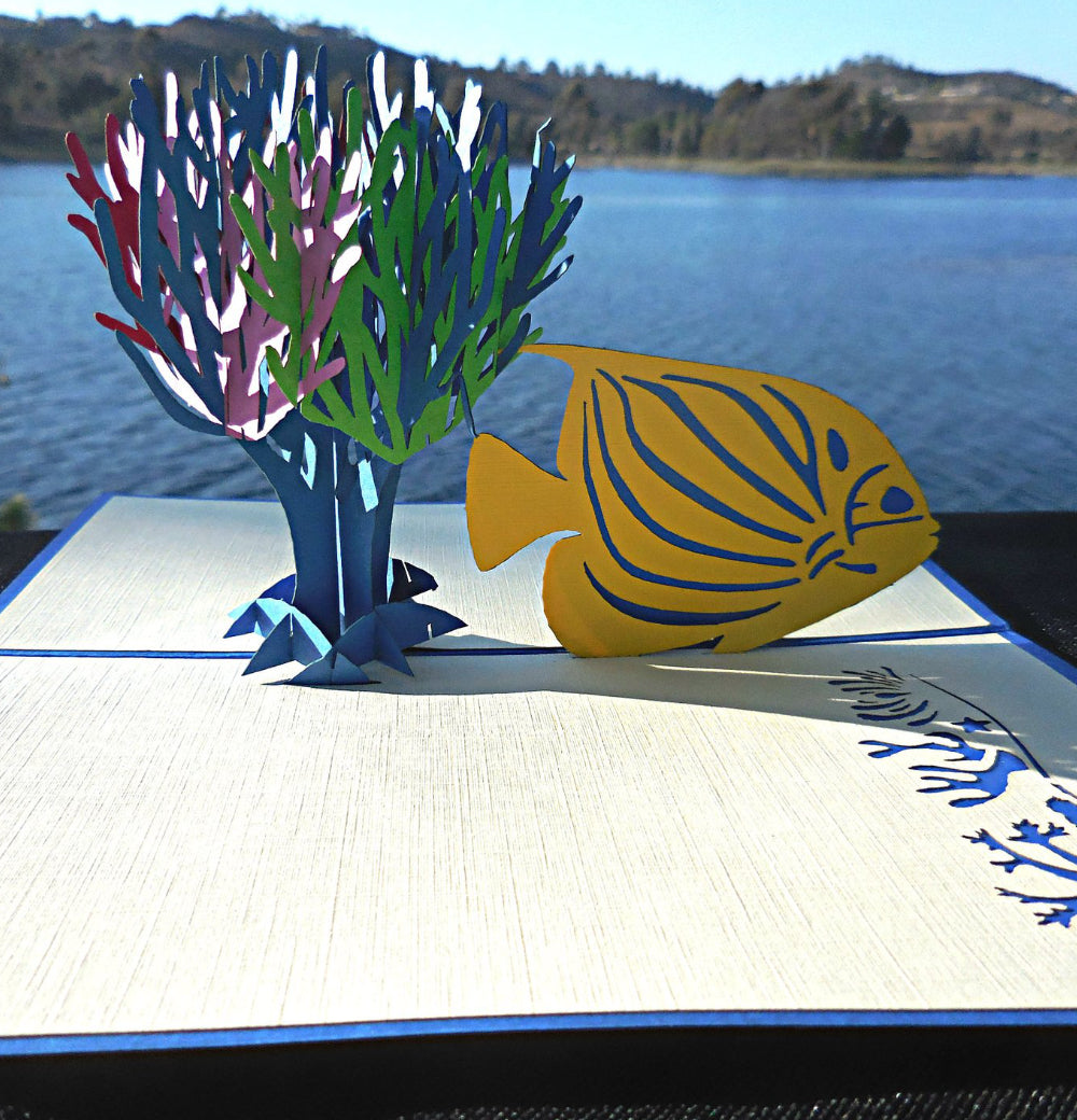 Fish Coral 3D Pop Up Greeting Card 1