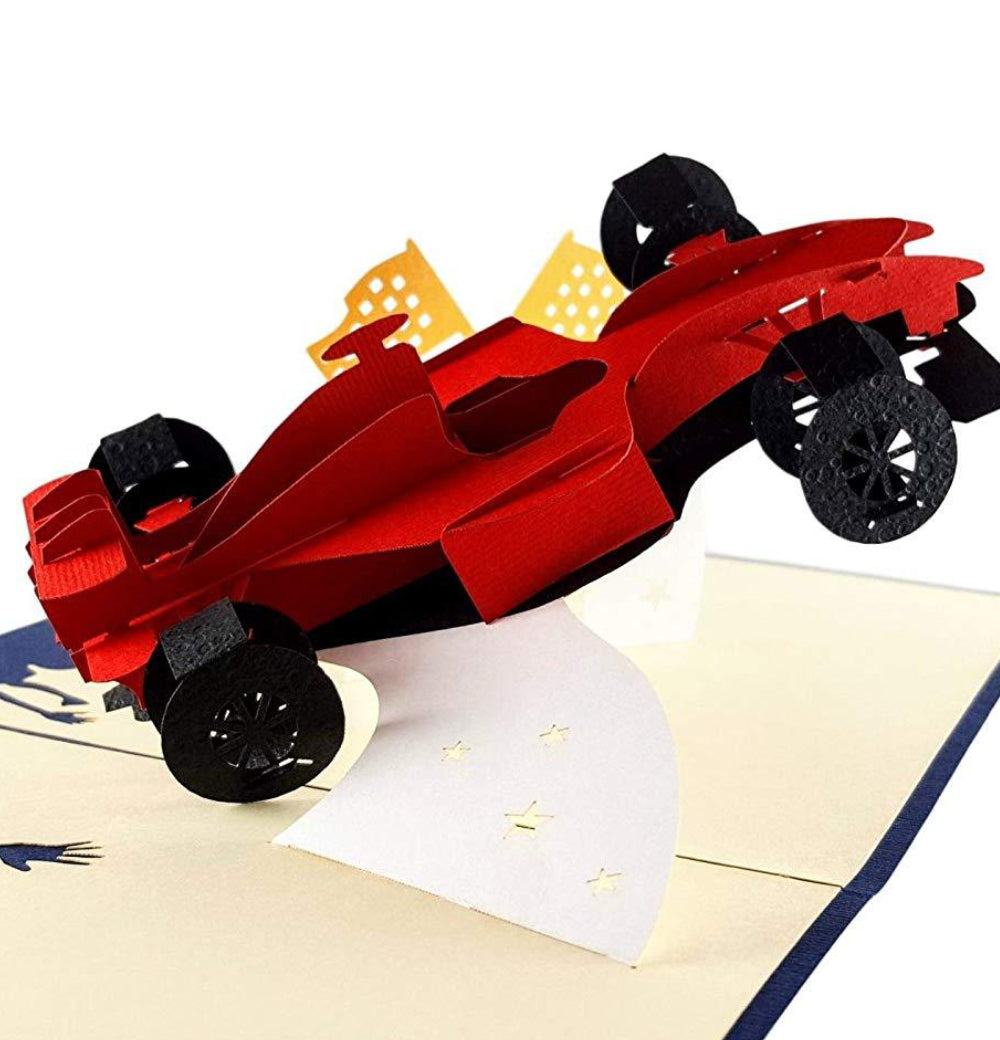 Formula 1 3D Pop Up Greeting Card 1