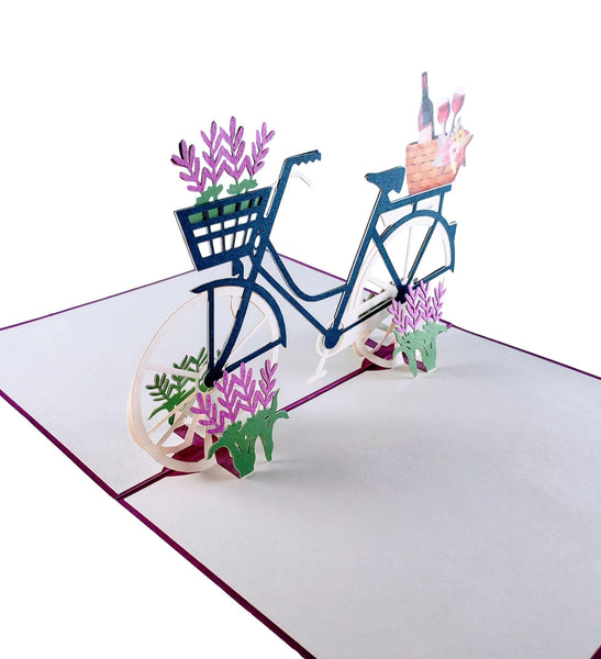 Fun Bike and Fine Wine 3D Pop Up Greeting Card 4