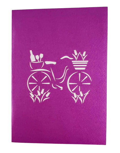 Fun Bike and Fine Wine 3D Pop Up Greeting Card 5