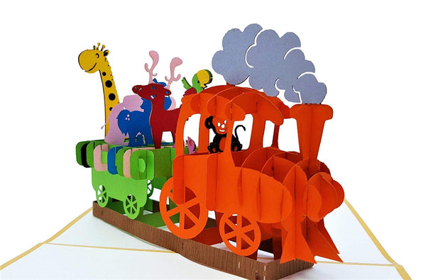 Fun Train 3D Pop Up Greeting Card 2