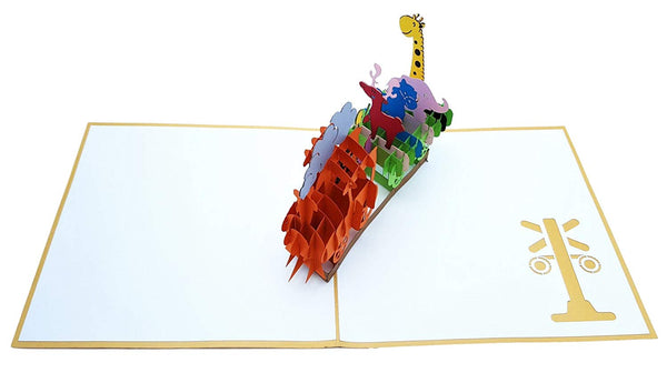 Fun Train 3D Pop Up Greeting Card 3