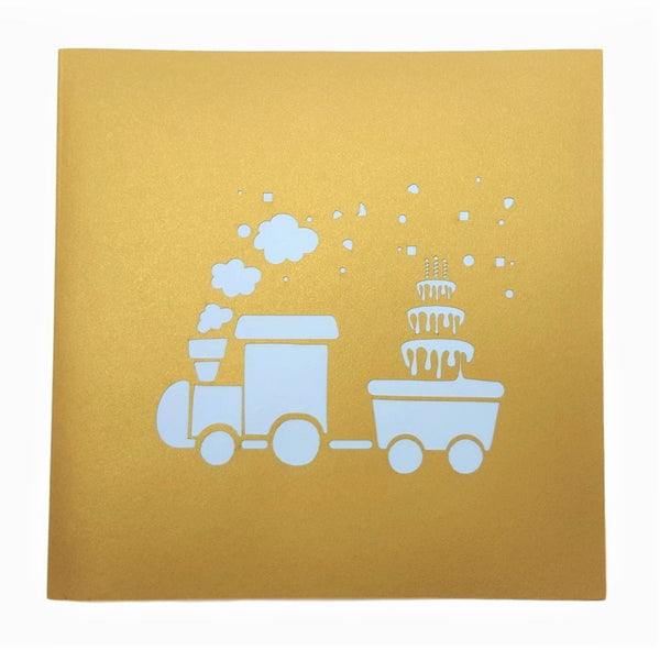Fun Train 3D Pop Up Greeting Card 5