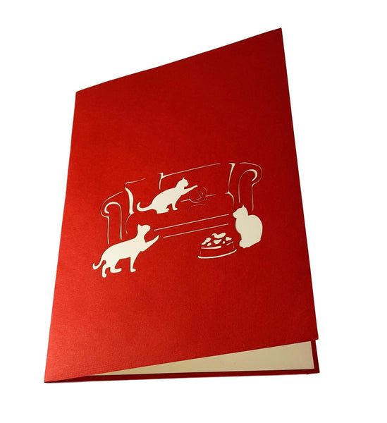 Funny Cats 3D Pop Up Greeting Card 4