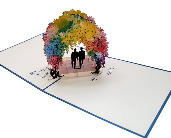 Gay Wisteria Flower Tunnel 3D Pop Up Greeting Card 3