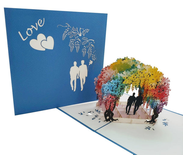 Gay Wisteria Flower Tunnel 3D Pop Up Greeting Card 6