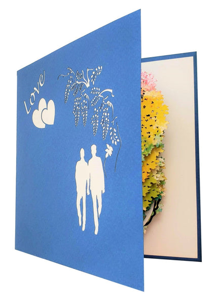 Gay Wisteria Flower Tunnel 3D Pop Up Greeting Card 7