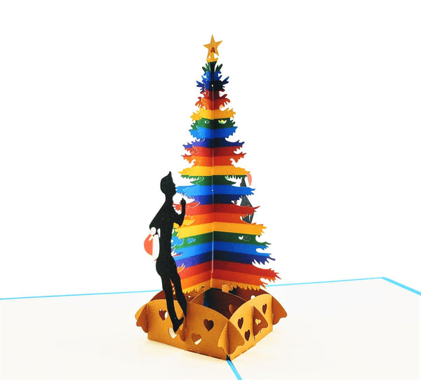 Gay Christmas 3D Pop Up Greeting Card 2