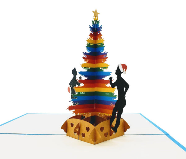 Gay Christmas 3D Pop Up Greeting Card 4