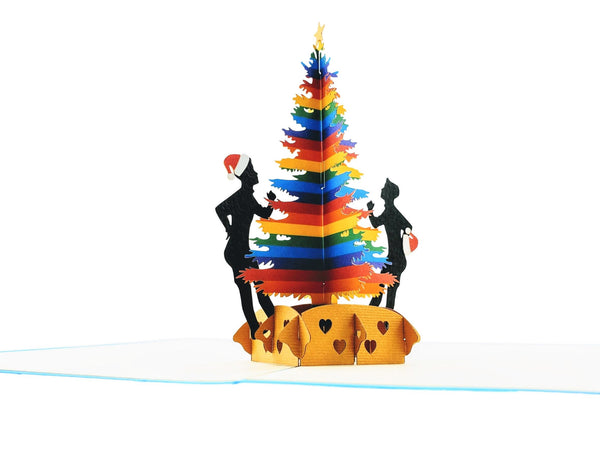 Gay Christmas 3D Pop Up Greeting Card 5