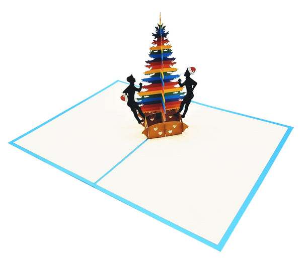 Gay Christmas 3D Pop Up Greeting Card 6