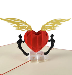 Gay Heart 3D Pop Up Greeting Card 1