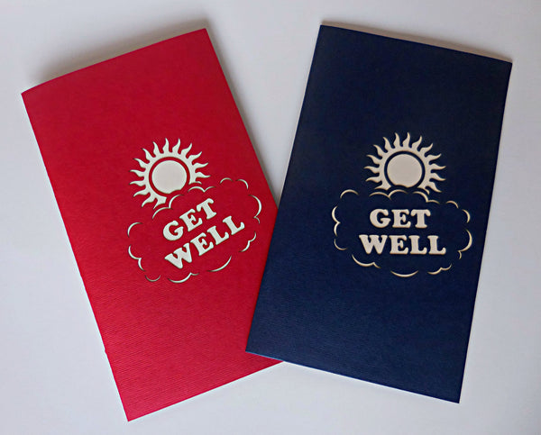Get Well (Red) 3D Pop Up Greeting Card 4