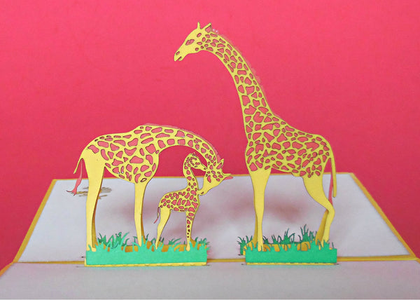 Giraffes 3D Pop Up Greeting Card 2