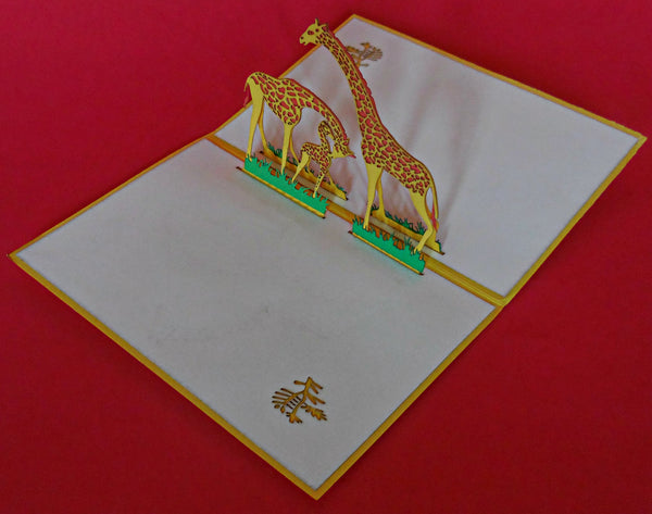 Giraffes 3D Pop Up Greeting Card 3