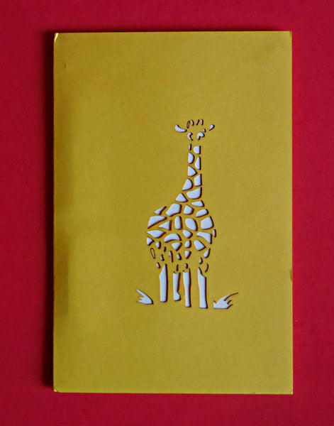 Giraffes 3D Pop Up Greeting Card 4