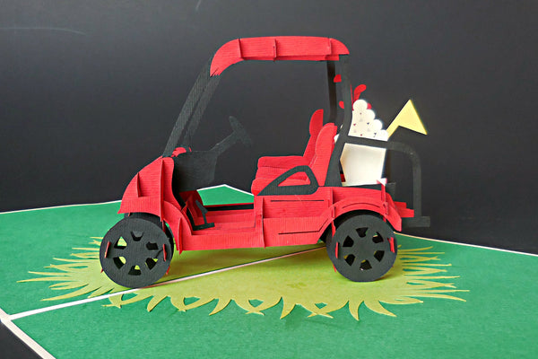 Golf Cart II 3D Pop Up Greeting Card 2