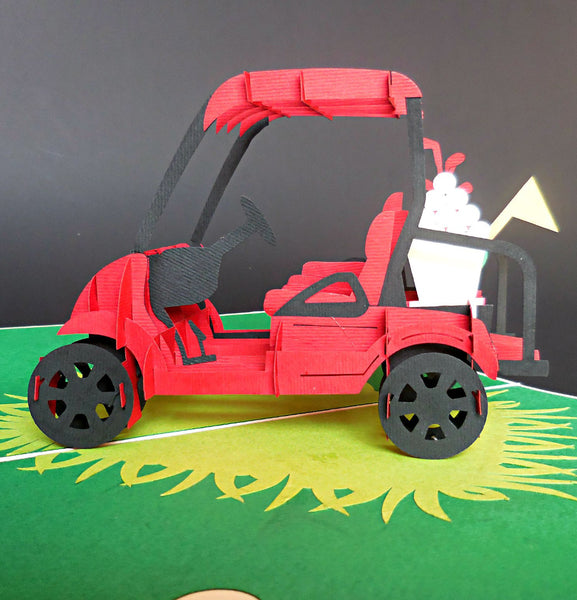 Golf Cart II 3D Pop Up Greeting Card 1