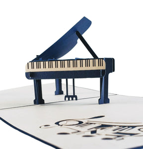 Grand Piano 3D Pop up Greeting Card 1 front