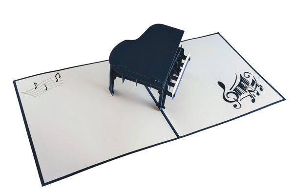 Grand Piano 3D Pop up Greeting Card 2