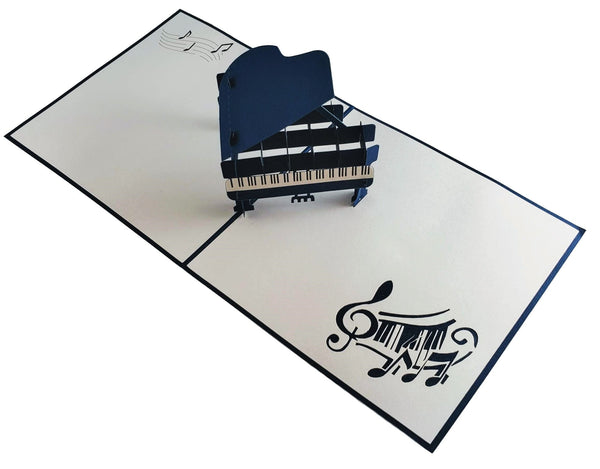 Grand Piano 3D Pop up Greeting Card 3
