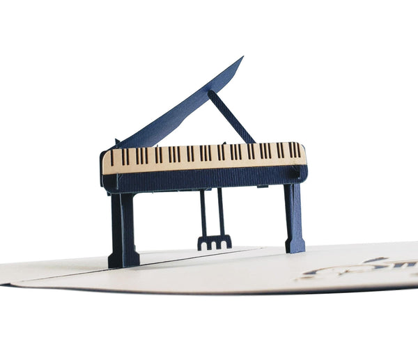 Grand Piano 3D Pop up Greeting Card 4