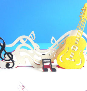 Guitar 3D Pop Up Greeting Card 1