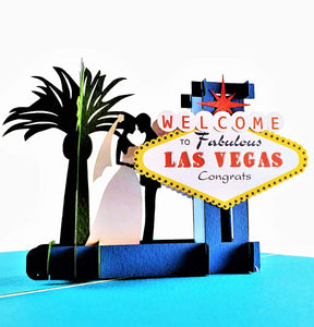 Happily Ever After Las Vegas 3D Pop Up Greeting Card 1 front