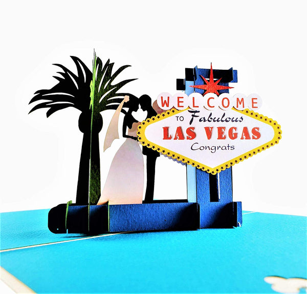 Happily Ever After Las Vegas 3D Pop Up Greeting Card 1