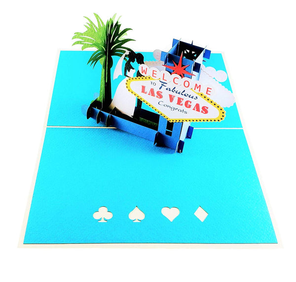 Happily Ever After Las Vegas 3D Pop Up Greeting Card 2