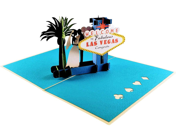 Happily Ever After Las Vegas 3D Pop Up Greeting Card 3