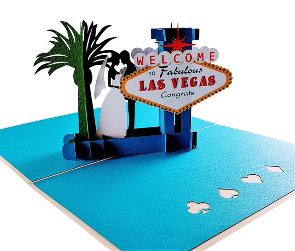 Happily Ever After Las Vegas 3D Pop Up Greeting Card 5