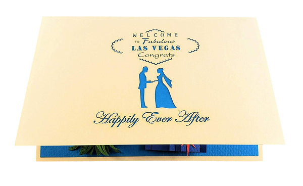 Happily Ever After Las Vegas 3D Pop Up Greeting Card 7