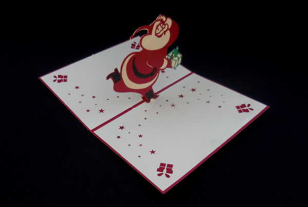 Happy Santa 3D Pop Up Greeting Card 3