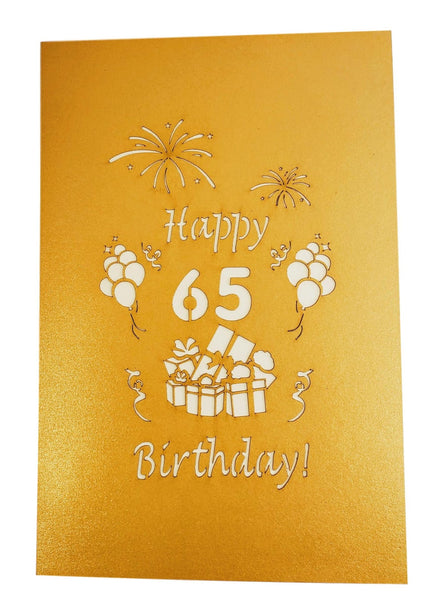 Happy 65th Birthday With Lots of Presents 3D Pop Up Greeting Card 9