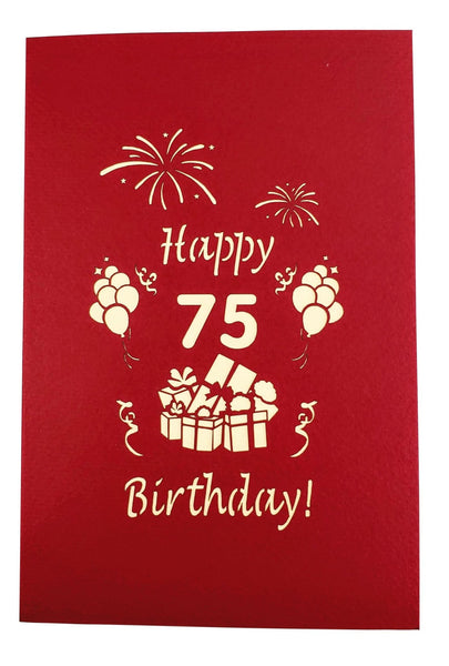 Happy 75th Birthday With Lots of Presents 3D Pop Up Greeting Card 9