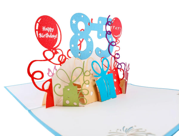 Happy 85th Birthday With Lots of Presents 3D Pop Up Greeting Card 4