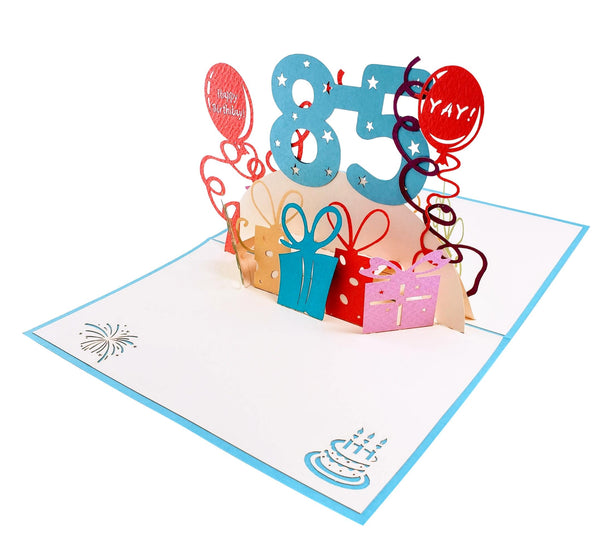 Happy 85th Birthday With Lots of Presents 3D Pop Up Greeting Card 5