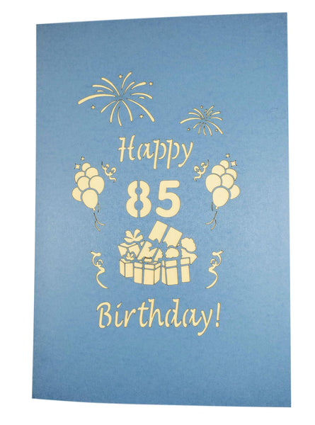 Happy 85th Birthday With Lots of Presents 3D Pop Up Greeting Card 8