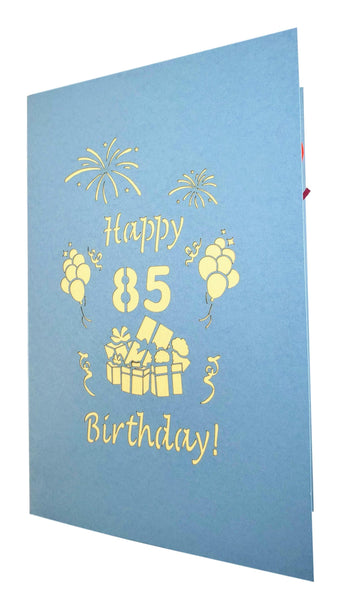 Happy 85th Birthday With Lots of Presents 3D Pop Up Greeting Card 7